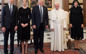 Gia đình tổng thống Trump gặp Giáo hoàng ở Vatican ngày 24/5. Ảnh: Reuters