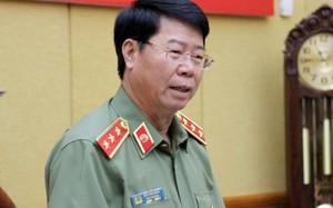 Thượng tướng Bùi Văn Nam, Thứ trưởng Bộ Công an, phát biểu tại buổi họp báo.