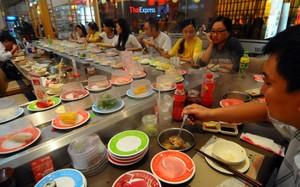 Nhà hàng bán món ăn Nhật trong một trung tâm thương mại ở TP.HCM