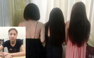 Nguyễn Thị Thương và các đối tượng bán dâm bị bắt giữ.