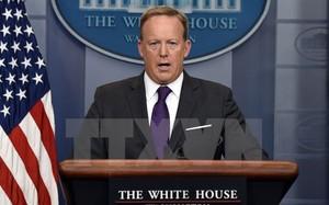 Thư ký báo chí Nhà Trắng Sean Spicer tại cuộc họp báo ở Washington, DC.