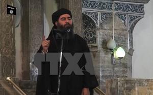 Hình ảnh Abu Bakr al-Baghdadi phát biểu tại một địa điểm bí mật. (Nguồn: AFP/TTXVN)
