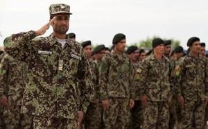 Quân đội Afghanistan mặc đồ ngụy trang trong rừng. Ảnh: NBC News.