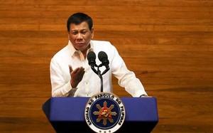 Tổng thống Duterte phát biểu trước Quốc hội Philippines. Ảnh: ABS-CBN.