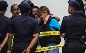 Đoàn Thị Hương được đưa đến Tòa. (Nguồn: Getty Images)