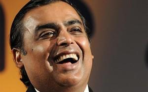 Ông Ambani sở hữu khối tài sản trị giá 34,8 tỷ USD.