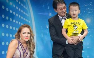 Thanh Hà bên cha con nhạc sĩ Đức Huy.