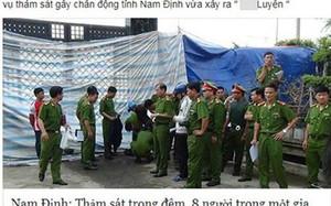 """Kẻ tung tin """"thảm án 8 người chết ở Nam Định"""" khai gì?"""