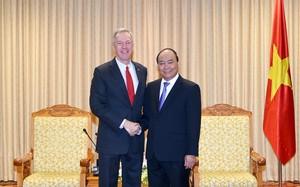 Thủ tướng Nguyễn Xuân Phúc tiếp Đại sứ Hoa Kỳ tại Việt Nam Ted Osius. Ảnh: VGP/Quang Hiếu