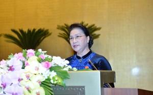 Chủ tịch Quốc Hội Nguyễn Thị Kim Ngân phát biểu khai mạc kỳ họp thứ 4, Quốc hội khóa XIV.