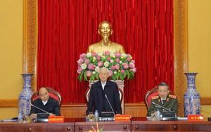 Tổng Bí thư, Thủ tướng dự, chỉ đạo phiên họp Thường vụ Đảng ủy Công an Trung ương