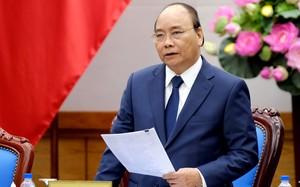 Thủ tướng Nguyễn Xuân Phúc phát biểu tại buổi gặp mặt đoàn đại biểu Hội truyền thống đường Hồ Chí Minh trên biển. Ảnh: VGP/Quang Hiếu