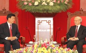 Tổng Bí thư Nguyễn Phú Trọng tiếp Bí thư Ban Bí thư Đảng Cộng sản Trung Quốc