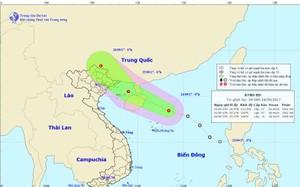 Áp thấp nhiệt đới sẽ đổ bộ vào Vịnh Bắc Bộ trong ngày mai