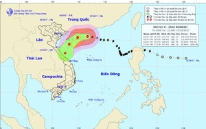 Bão số 11 nhanh chóng suy yếu thành áp thấp nhiệt đới