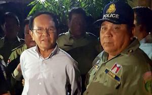Ông Kem Sokha, lãnh đạo đảng CNRP bị bắt. Ảnh: AFP