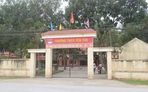 Trường THCS Yên Thọ-nơi xảy ra sự việc. Ảnh: Dân trí