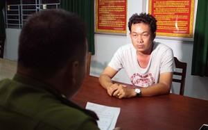 Đối tượng Tú tại cơ quan công an. Ảnh: Vietnamnet