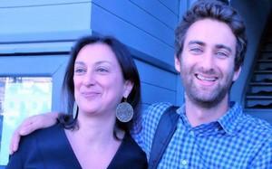Matthew Caruana Galizia và mẹ, nữ nhà báo vừa bị sát hại Caruana Galizia
