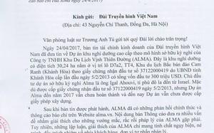 Công văn của Văn phòng Luật sư Trương Anh Tú gửi VTV