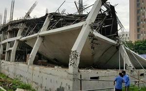 Hiện trường vụ đổ Trường mầm non Vườn Xanh.