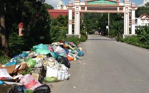Rác thải chất đống ngay đường dân sinh gây ô nhiễm và mất mỹ quan đô thị.