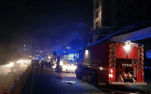 Lực lượng Cảnh sát PCCC triển khai công tác dập lửa tại hiện trường