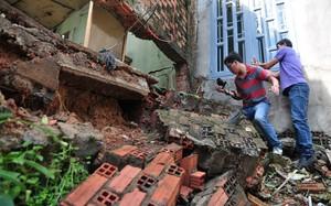 Nhiều căn nhà bị sạt lở nặng không còn ở được ở xã Hố Nai 3, huyện Trảng Bom
