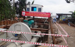 Trạm bơm chống ngập cho đường Nguyễn Hữu Cảnh sẽ tạm dừng hoạt động để hoàn thiện công trình.