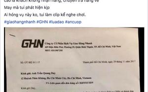 Nội dung tố cáo giaohangnhanh.vn trên mạng xã hội
