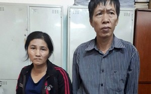 """Cặp vợ chồng """"siêu lừa""""tại Công an tỉnh Nam Định."""