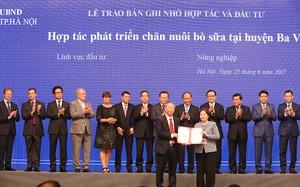 Vinamilk đẩy mạnh chăn nuôi bò sữa công nghệ cao ở Hà Nội