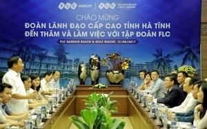 Tại Hà Tĩnh, Tập đoàn FLC đã nhận được lời mời đầu tư vào một số dự án trọng điểm trên địa bàn.