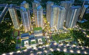 Không gian xanh tạo nên điểm nhấn cho Khu Sapphire - Goldmark City.