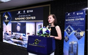 Đại diện chủ đầu tư, bà Đỗ Thị Hồng Nhung – Tổng Giám Đốc Sunshine Housing phát biểu tại buổi lễ