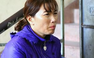 Bà Linh tại trụ sở công an. Ảnh:Quốc Thắng.