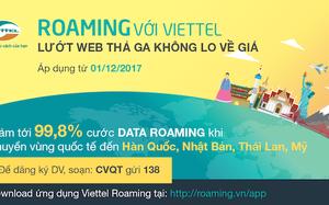 Giảm hơn 99% cước data roaming ngay trước thềm Giáng sinh và năm mới.