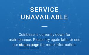 Sàn Coinbase tạm dừng hoạt động đêm qua