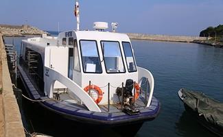 Tàu cao tốc ra huyện đảo Cồn Cỏ tạm dừng khai thác do không đảm bảo an toàn. Ảnh: Hoàng Táo