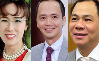 Những gương mặt đình đám trên sàn chứng khoán Việt Nam.