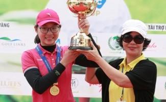 Đoàn Xuân Khuê Minh đăng quang Giải vô địch golf nữ nghiệp dư Quốc Gia 2017 (Ảnh: Duy Dương)