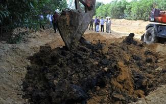 Chất thải độc hại được chôn lấp ở trang trại giám đốc công ty môi trường. Ảnh: X.Đ