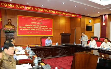 Công bố Kết luận kiểm tra, giám sát tại Nam Định, Thái Bình