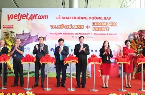 Vietjet khai trương 2 đường bay từ TP.HCM tới Phuket & Chiang Mai