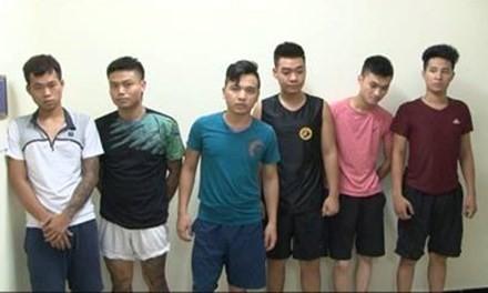 Các đối tượng bị bắt giữ trong vụ án.