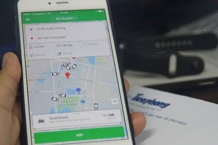 Giao diện dịch vụ đi chung - Grabshare