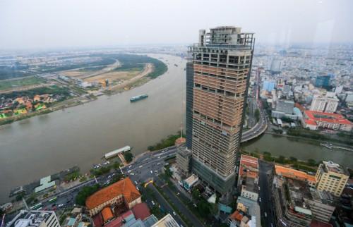 Dự án phức hợp Saigon One Tower bị VAMC thu giữ để xử lý nợ. Ảnh: Quỳnh Trần