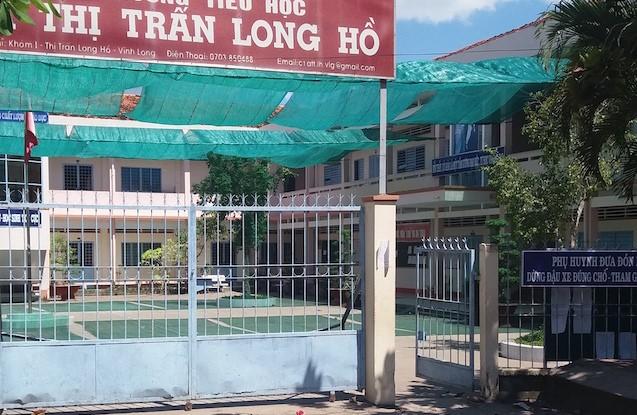 Trường tiểu học, nơi xảy ra vụ việc. Ảnh: Minh Anh.