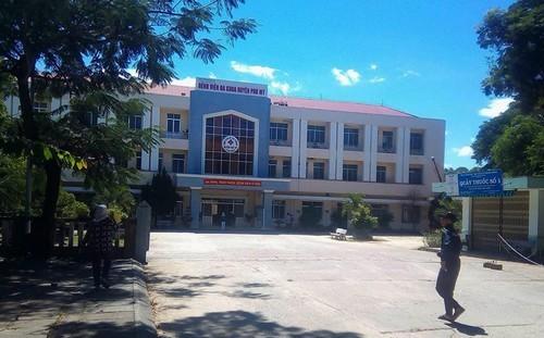 Trung tâm y huyện Phù Mỹ- nơi sản phụ tử vong sau sinh mổ.