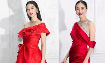 Sao Việt chuộng sắc đỏ hợp mốt mùa lễ hội